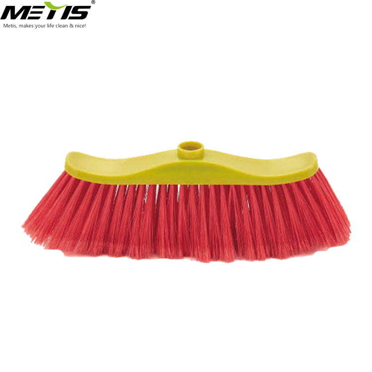 9002 long bristle broom with cheap price PET hair PP material