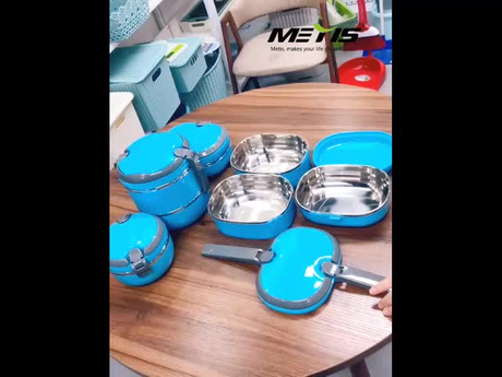 Trade assurance 950ml lunch box stainless steel printing bento box,customize kids lunch box tiffin,hot selling student lunch box