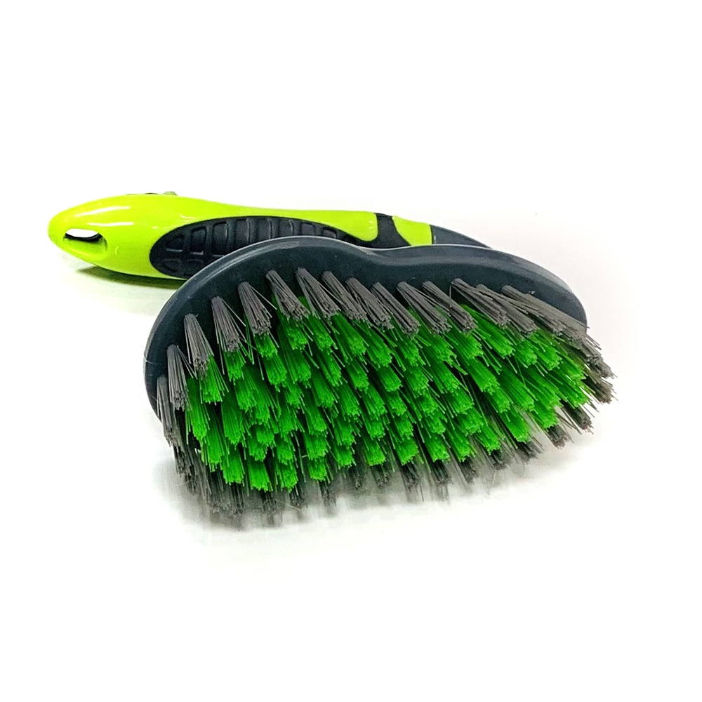 Manufacturer wholesale price high quality plastic/wood curved handle dishwashing brush