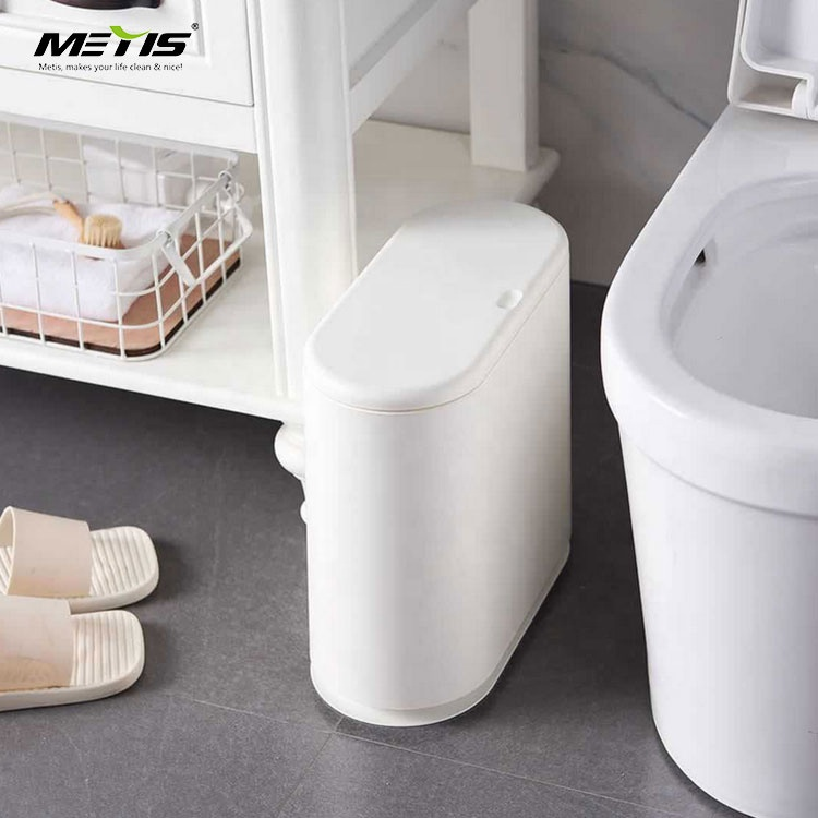 ABS And Plastic Double Layers Trash Can With Removable cover For Bathroom Corner