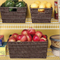 Plastic Storage Basket Storage containers with Built-In Stainless Steel Handles For Easy Transport