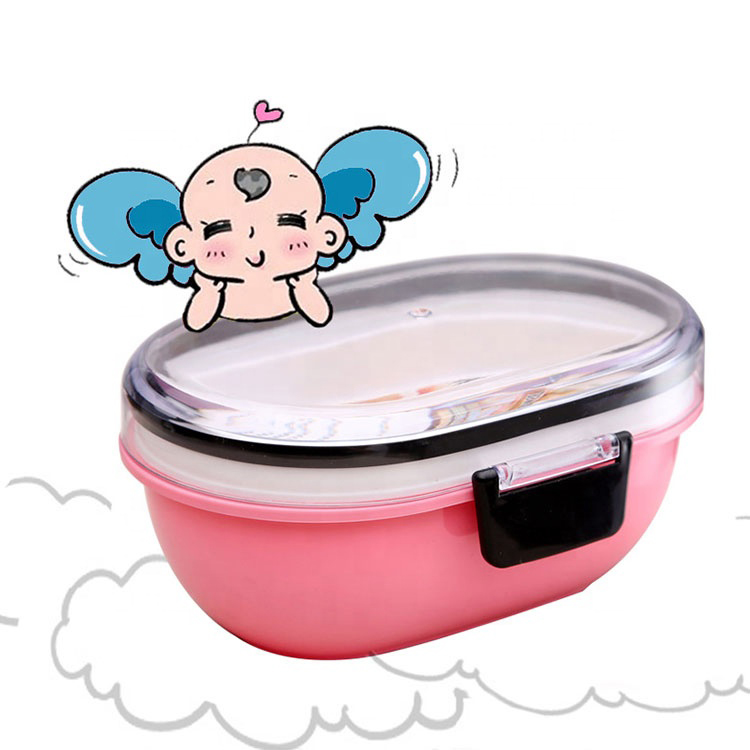 In stocked kids lunch bento box bpa free with bowl and spoon ecofriendly