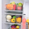 Stackable Plastic Refrigerator Storage Box Kitchen Storage Organizer Clear Storage Bin Holder For Tea Bags,Packets,Sweeteners