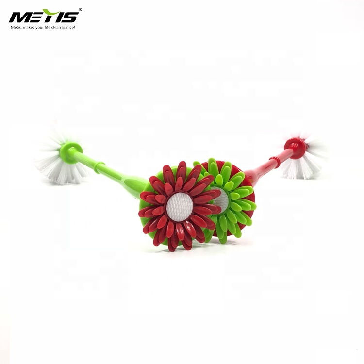 Metis B3005 Household Hot Selling Plastic Material Toilet with Base Cloth Cleaning Flower Dish Brush
