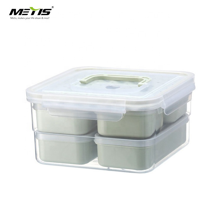 good selling plastic food storage container lunch box with Silicone seal layer