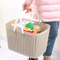 Manufacturer plastic cotton laundry mini shopping baskets for storage with handle