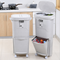 45L enlarged multi-functional household kitchen trash can With a single cover