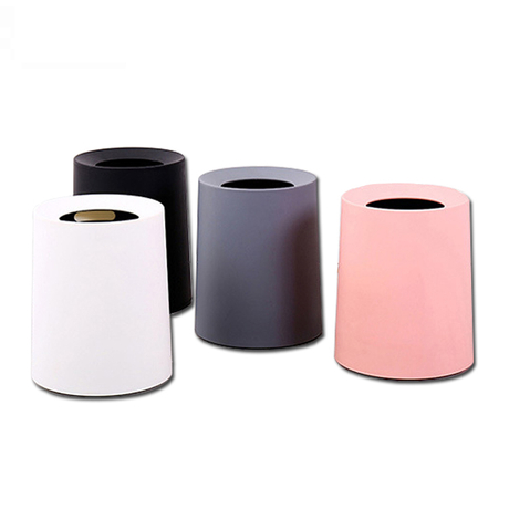 A5001 8L trash can plastic garbage Plastic double wall pink grey white black car dustbin