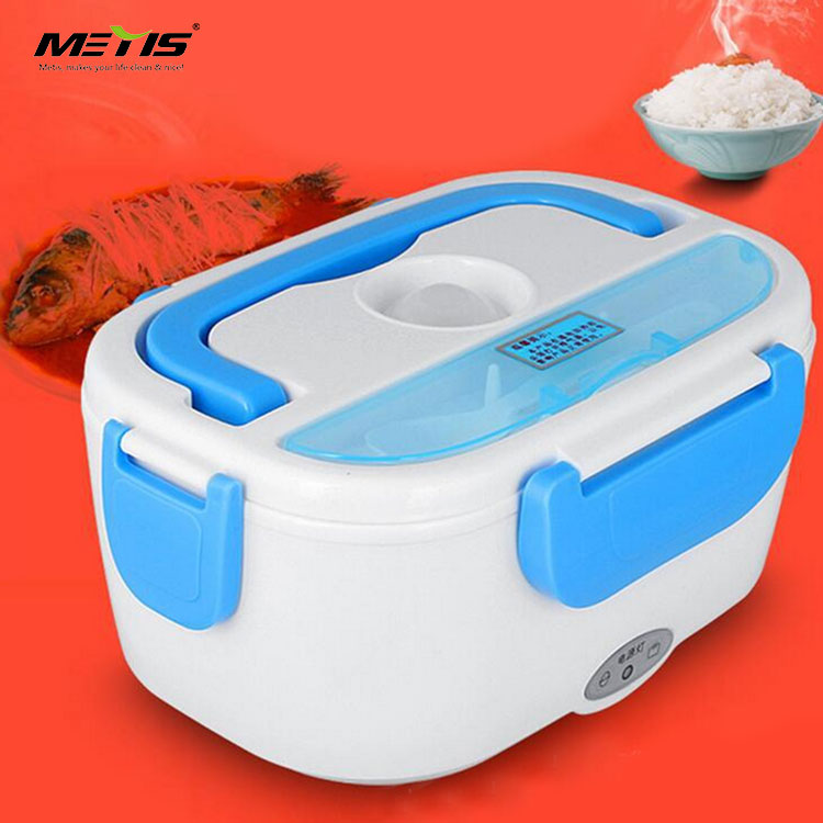 car usage B9003-2 stainless steel 12V electric lunch box with spoon and handle