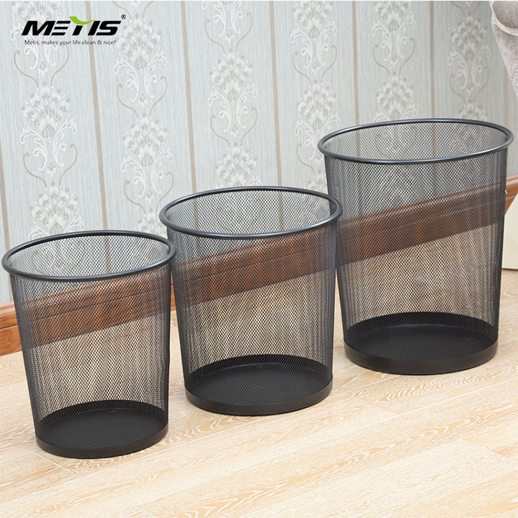 Cheap price metal mesh Office use large capacity stainless steel paper basket