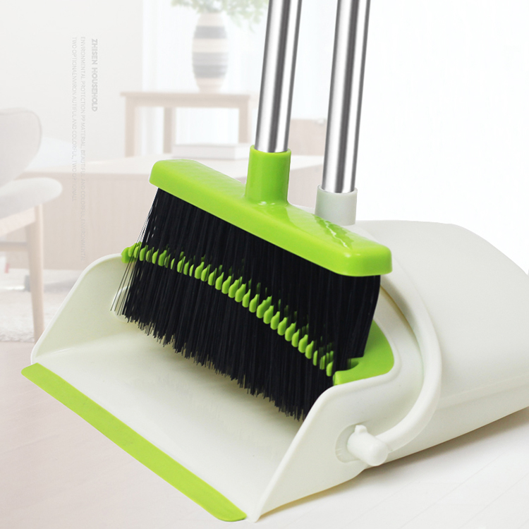 Amazon Top Seller Telescopic Long Handle Folding Windproof Broom And Dustpan Set