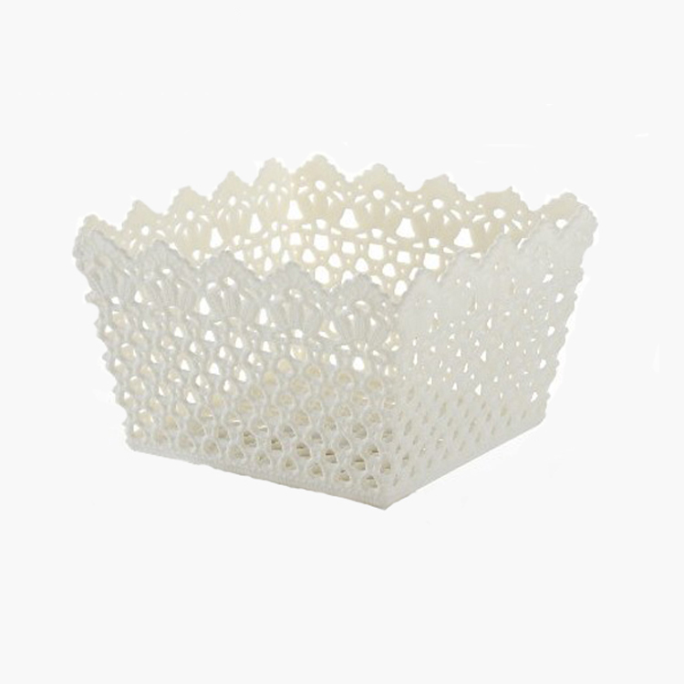 China Gold Supplier Household Square Hollow Storage Basket