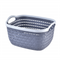 2020 new design high-quality woven plastic storage basket with enlarged design handle
