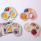 High quality unbreakable car shape creative easy cleaning kitchen kids bamboo fiber plates