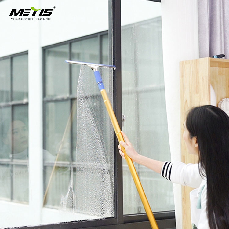 Windows Cleaner and Squeegee with Aluminum Long Telescoping Poles Handles for Washing Glass