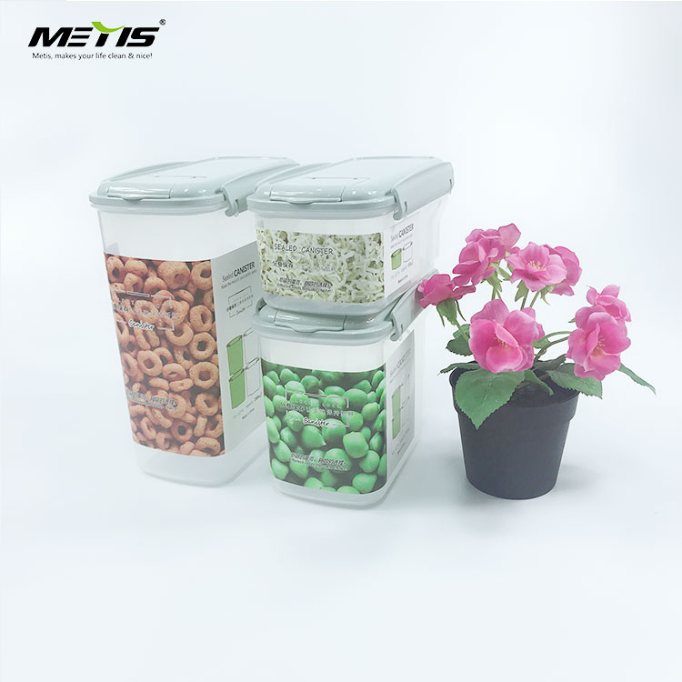 Life B2007-2 square Transparent plastic Cereal Keeper Dry free Food Storage Containers