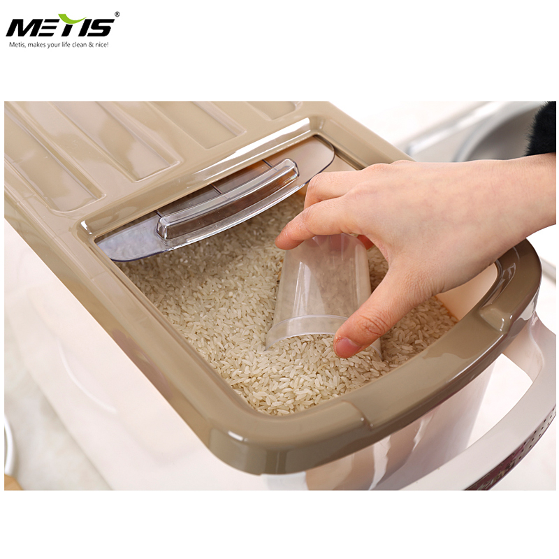 Rice Storage Box Grain Cereal Dispenser Flip Lid Food Organizer Container Metis A7036-2