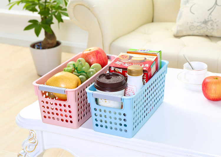 home organizer A7004-1 rectangle white underbed storage box basket