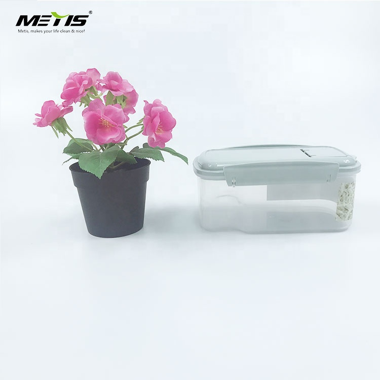 Factory direct small size Square sale high transparent airtight Container Set for Food Storage Plastic 3 Piece Set