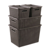 Storage Baskets for home Plastic Baskets With Lids Metis A7018-1