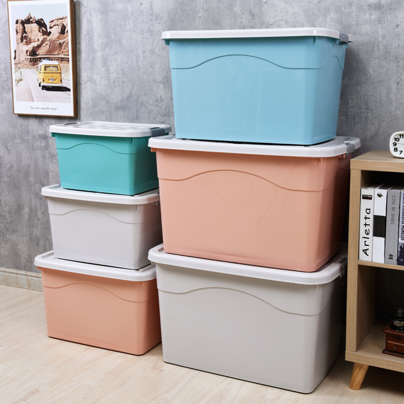 METIS high quality plastic multi size large capacity plastic storage laundry box
