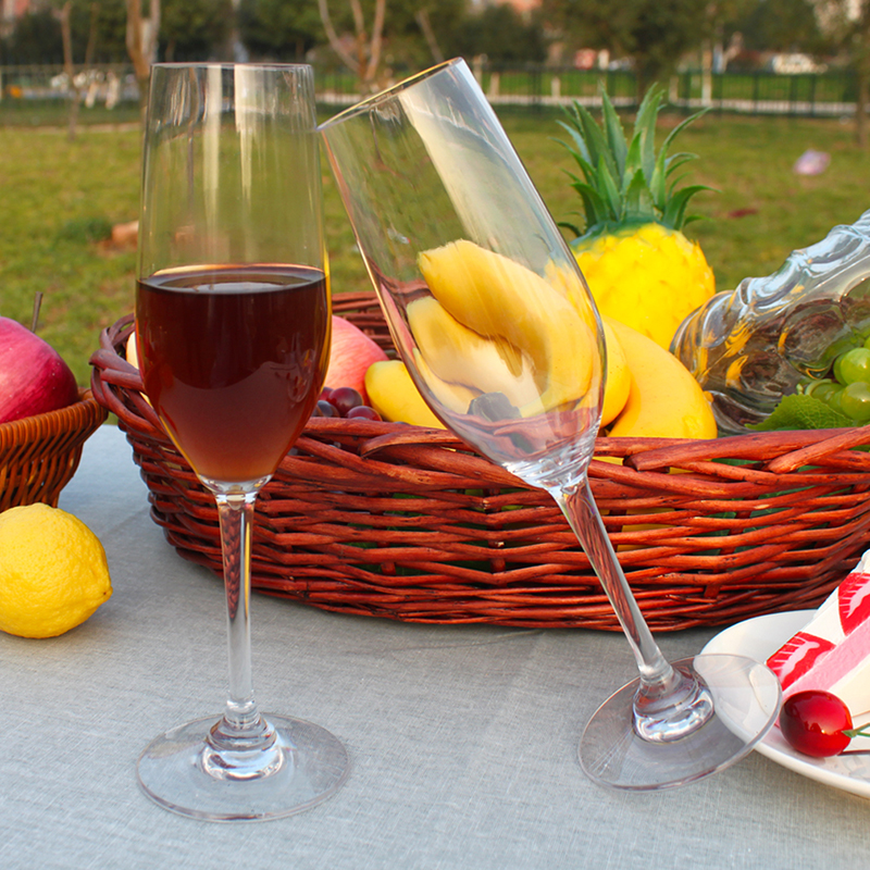 Portable Reusable Plastic Wine and Champagne Glasses Set of with Storage Bottle for Picnic Party and Camping
