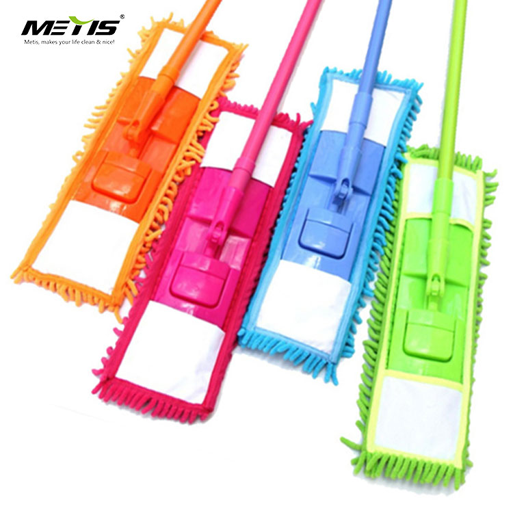 Metis China B4003 Replaceable mop pad Telescopic pole Chenille microfiber flat mop