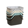 Durable Plastic Storage Organizational Shelf Baskets