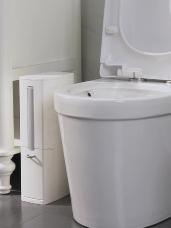 Bathroom Toilet Trash Can With Brush with Holder