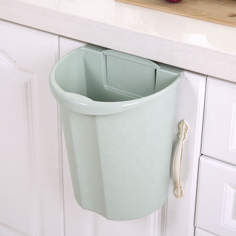 Hot Selling Kitchen Cabinet Doors Hanging Trash Can Waste Bin, Eco-Friendly Bedroom Ashbin Garbage Bin