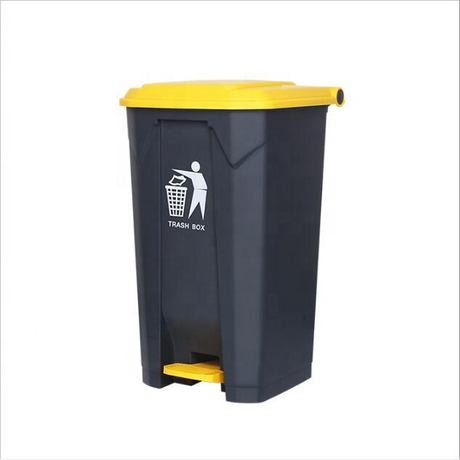 Outdoor 42 Liter Step Trash Can Plastic Household Waste Bin Container With Lift Lid