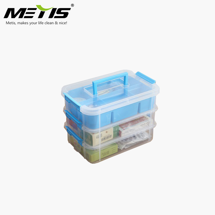 Eco-friendly Plastic 3 Layer Fresh Food Container Locked Organizer Storage Box