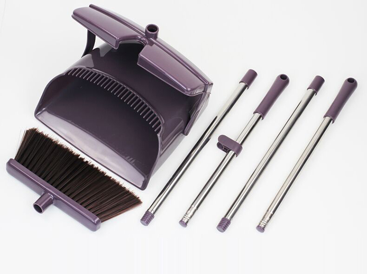 Easy Cleaning Kitchen Folding Windproof Broom And Dustpan Set With Lid