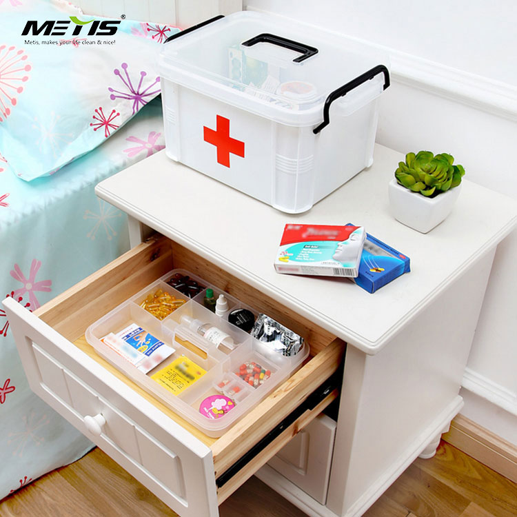 Plastic medicine box home convenient portable emergency box medical box family admission kit