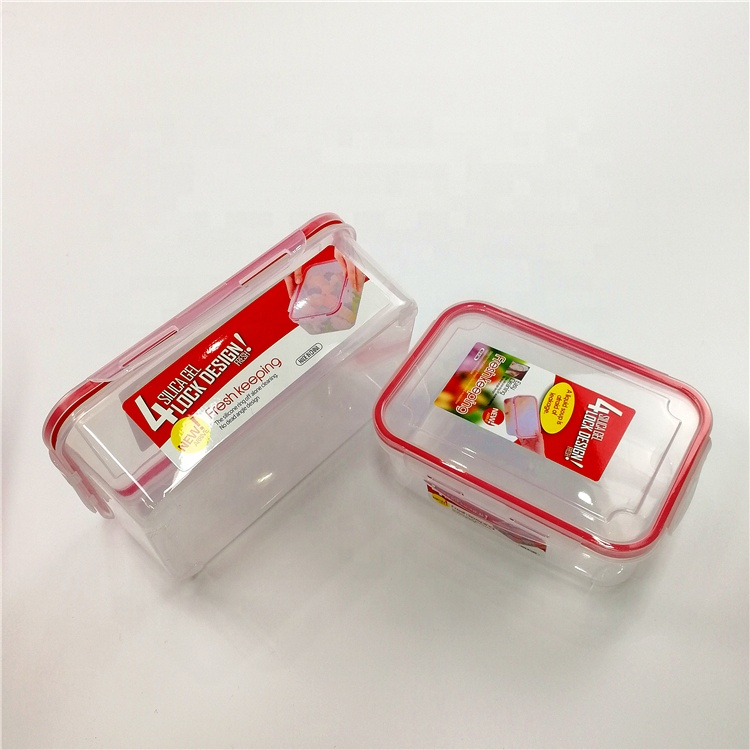 Storage 4 pcs preservation box Plastic Food Storage Containers Set Lids Airtight Microwave Safe crisper box