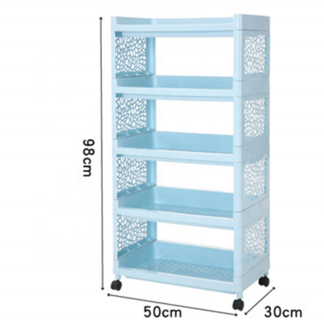 Metis new hot cheap durable five layer narrow hollow storage racks