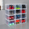 Easy Assemble Stackable Hard Black / Transparent /Colorful Clear Plastic Storage Containers Drawer Drop Front Shoe Box Organizer