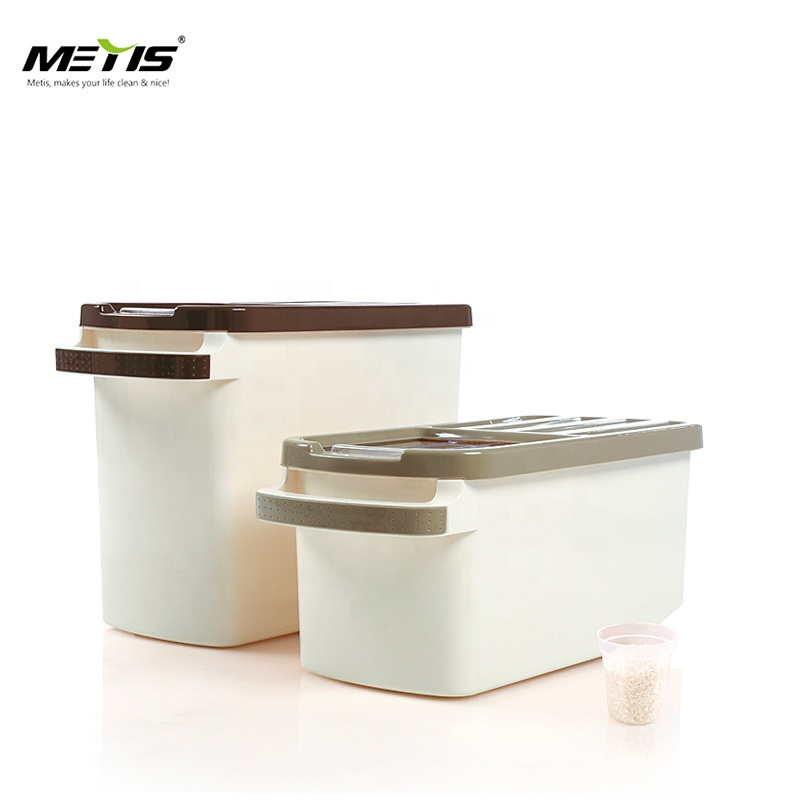 Home Best Price Kitchen Plastic Box Rice Storage Bin For Food With Handle