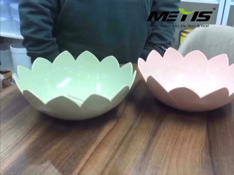 Creative kitchen salad bowl new style dried fruit frying bowl fruit basket household plastic fruit bowl