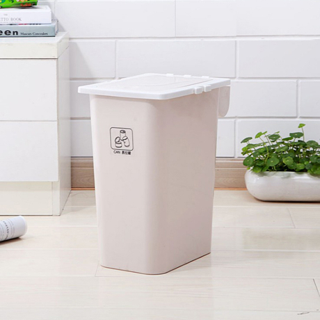 Wholesale New Design Household plastic square pressing type trash can with Trash bag container
